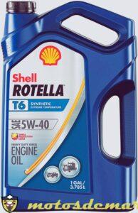 Aceite de motocicleta diesel sintético Rotella T6