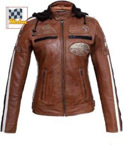 Mejor chaqueta de moto para mujer de cuero
